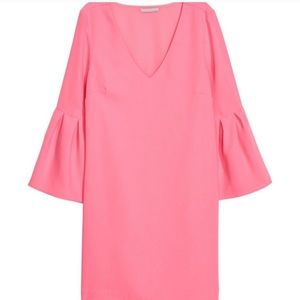 H&M Bell Sleeve Dress in Hot Pink